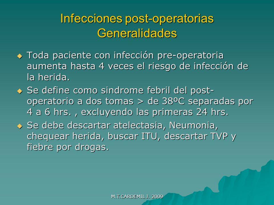 Infecciones post-operatorias Generalidades