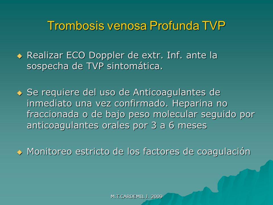 Trombosis venosa Profunda TVP