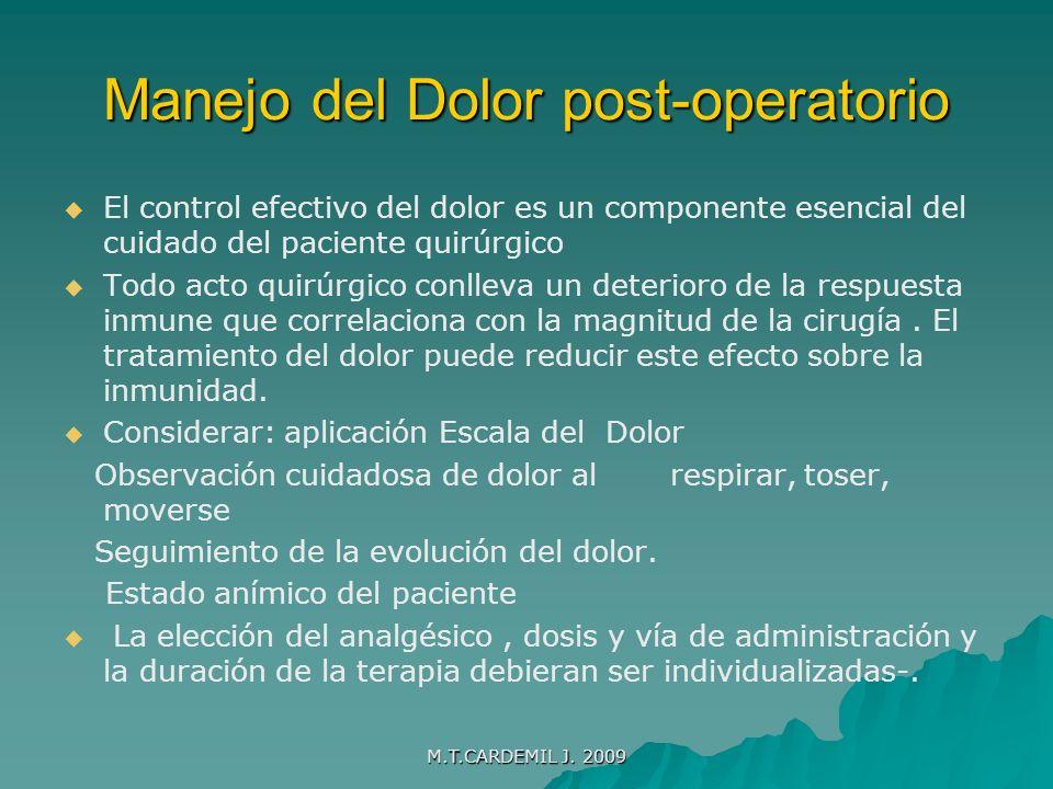Manejo del Dolor post-operatorio