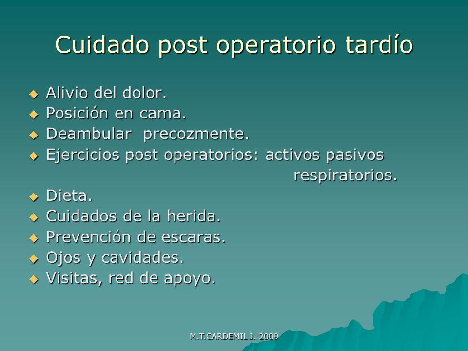 Cuidado post operatorio tardío