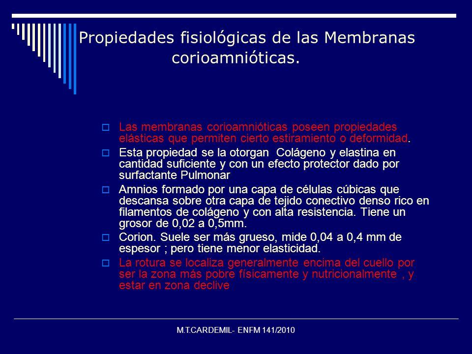 Propiedades fisiológicas de las Membranas corioamnióticas.