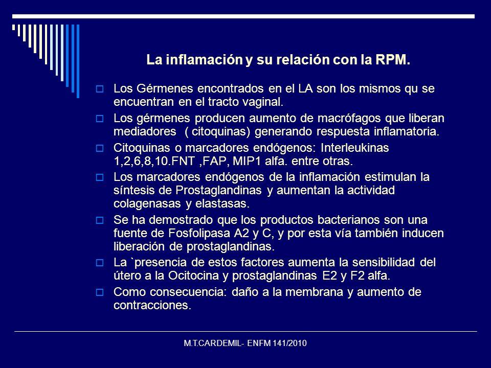 La inflamación y su relación con la RPM.