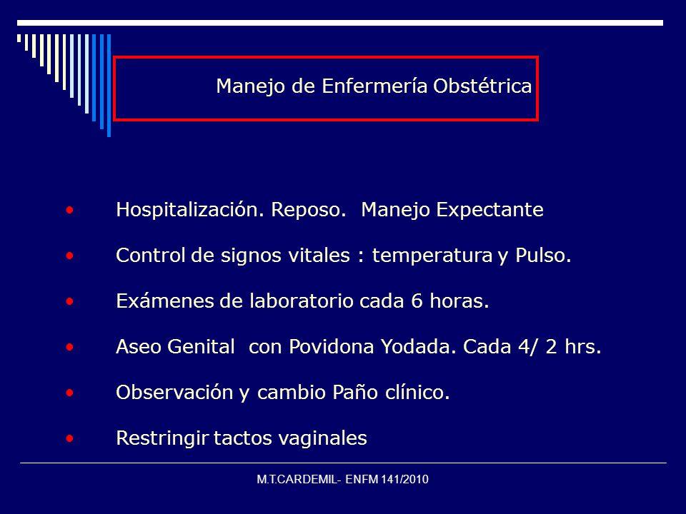 Manejo de Enfermería Obstétrica