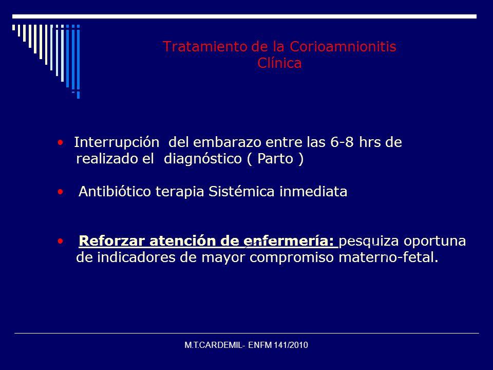 Tratamiento de la Corioamnionitis Clínica