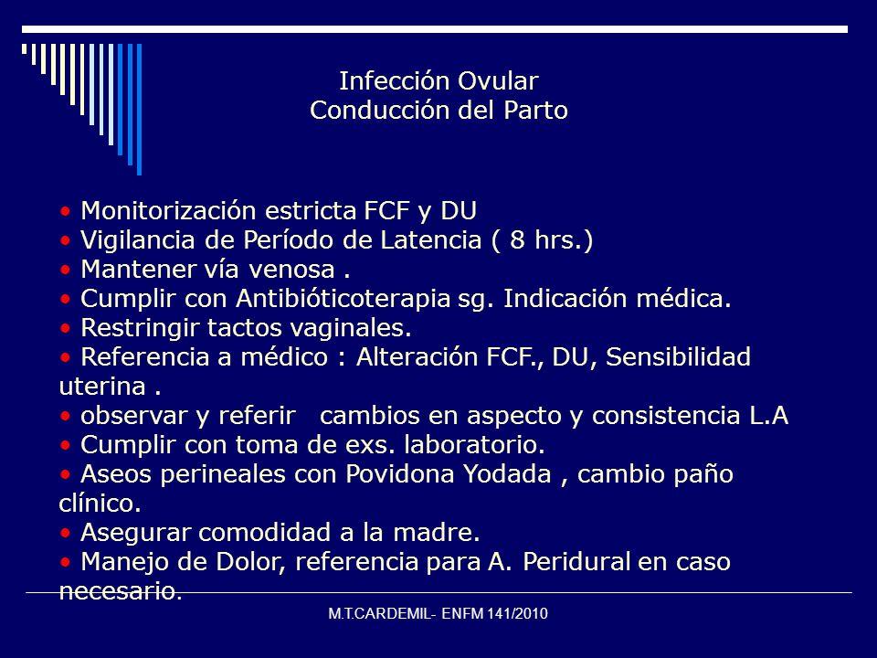 Infección Ovular Conducción del Parto