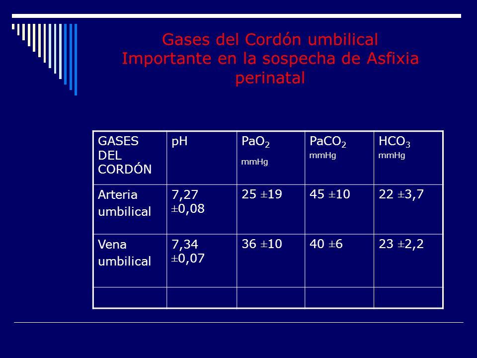 Gases del Cordón umbilical Importante en la sospecha de Asfixia perinatal
