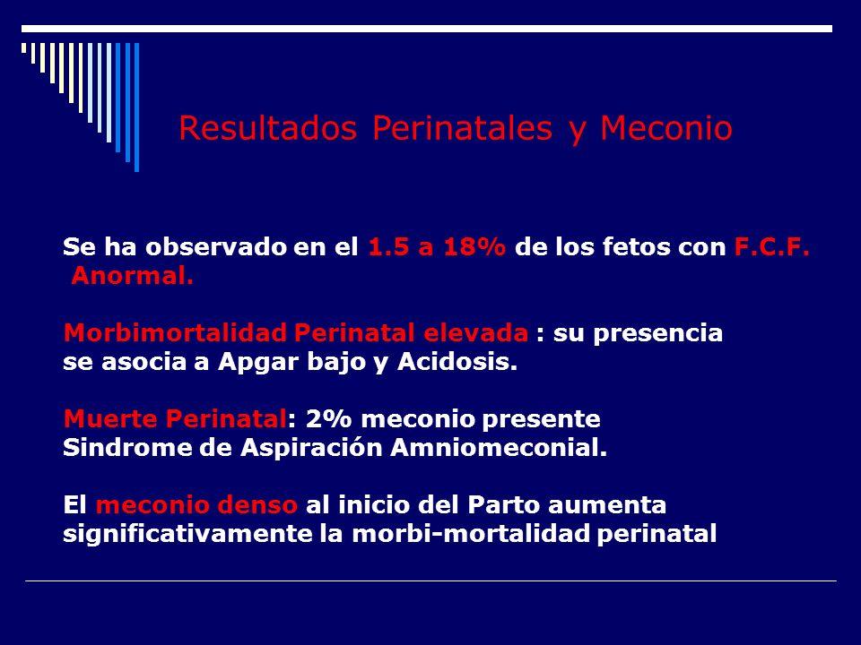 Resultados Perinatales y Meconio