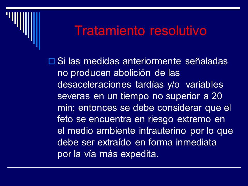 Tratamiento resolutivo
