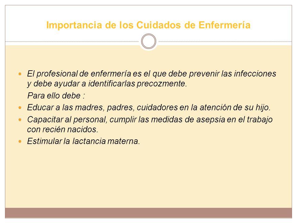 Importancia de los Cuidados de Enfermería