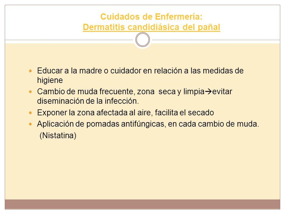 Cuidados de Enfermería: Dermatitis candidiásica del pañal