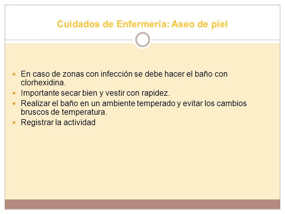 Cuidados de Enfermería: Aseo de piel