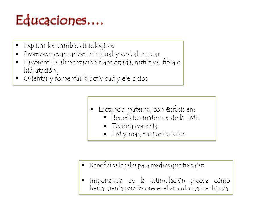 Educaciones…. Explicar los cambios fisiológicos