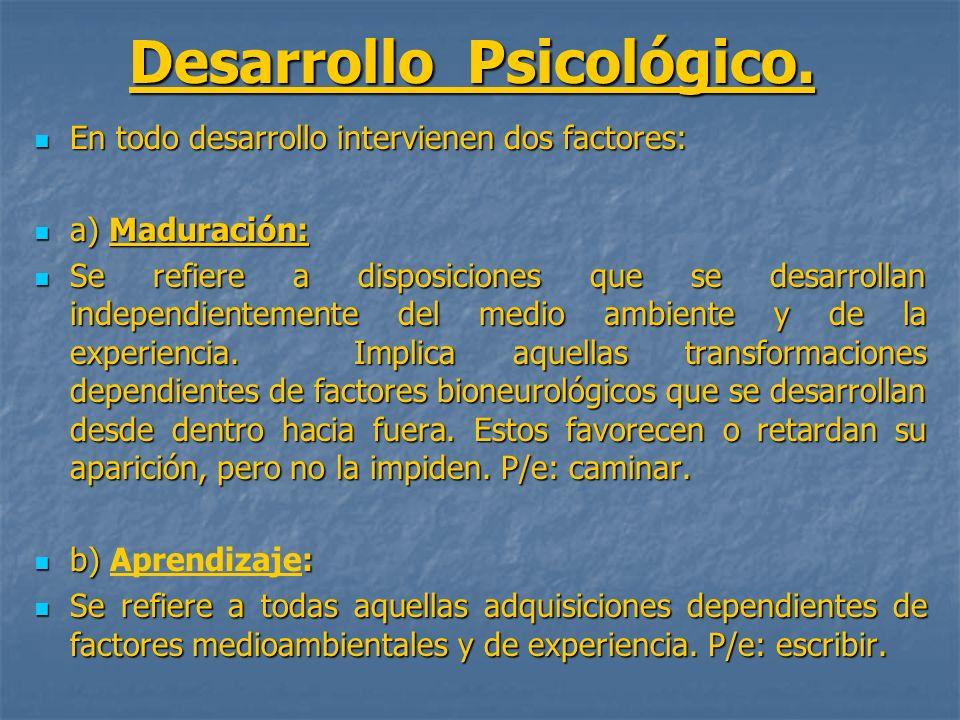 Desarrollo Psicológico.