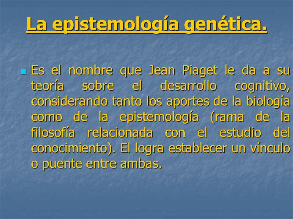 La epistemología genética.
