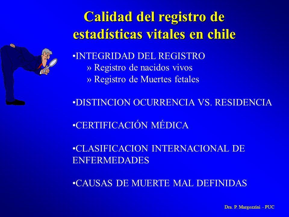 Calidad del registro de estadísticas vitales en chile