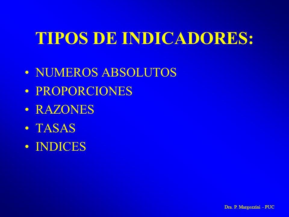 TIPOS DE INDICADORES: NUMEROS ABSOLUTOS PROPORCIONES RAZONES TASAS