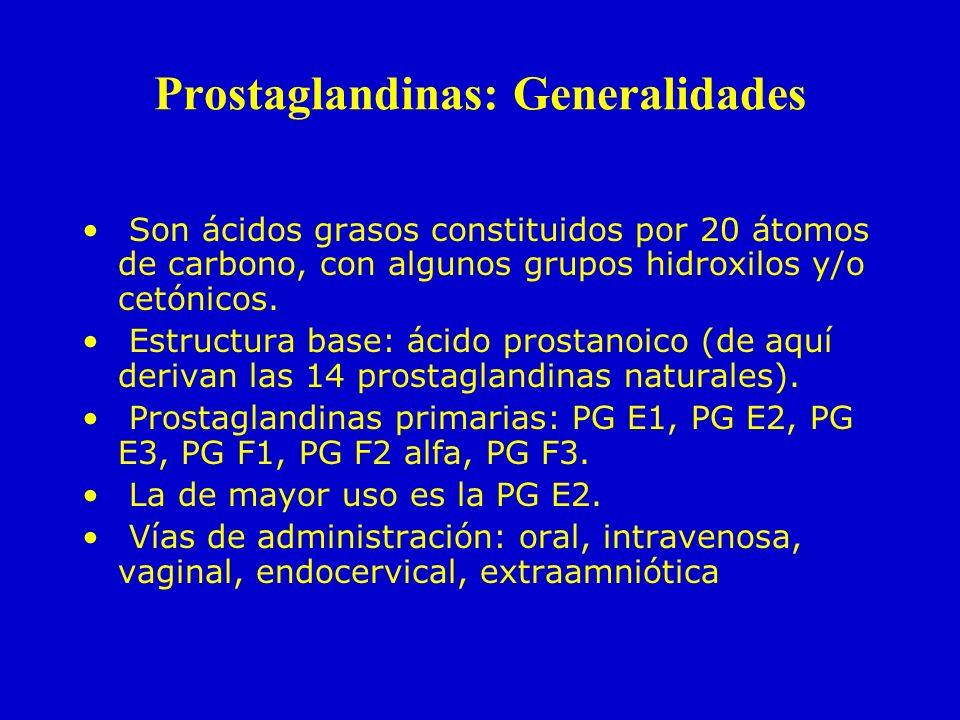 Prostaglandinas: Generalidades