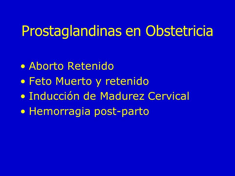 Prostaglandinas en Obstetricia