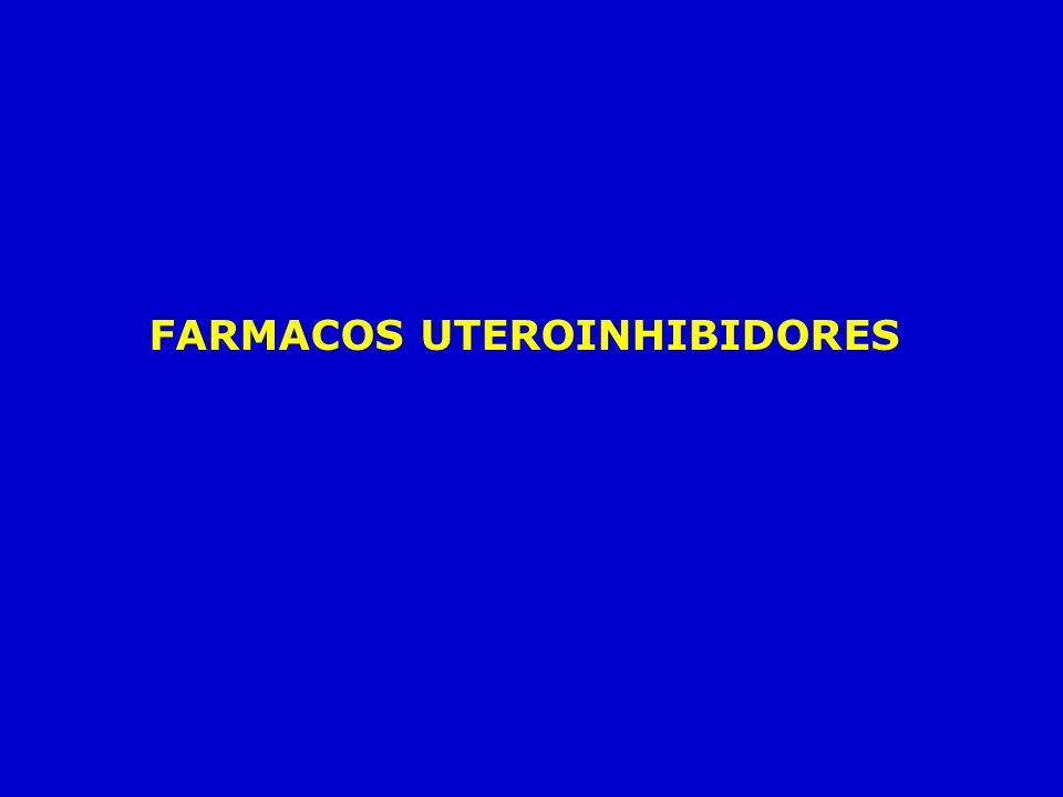 FARMACOS UTEROINHIBIDORES
