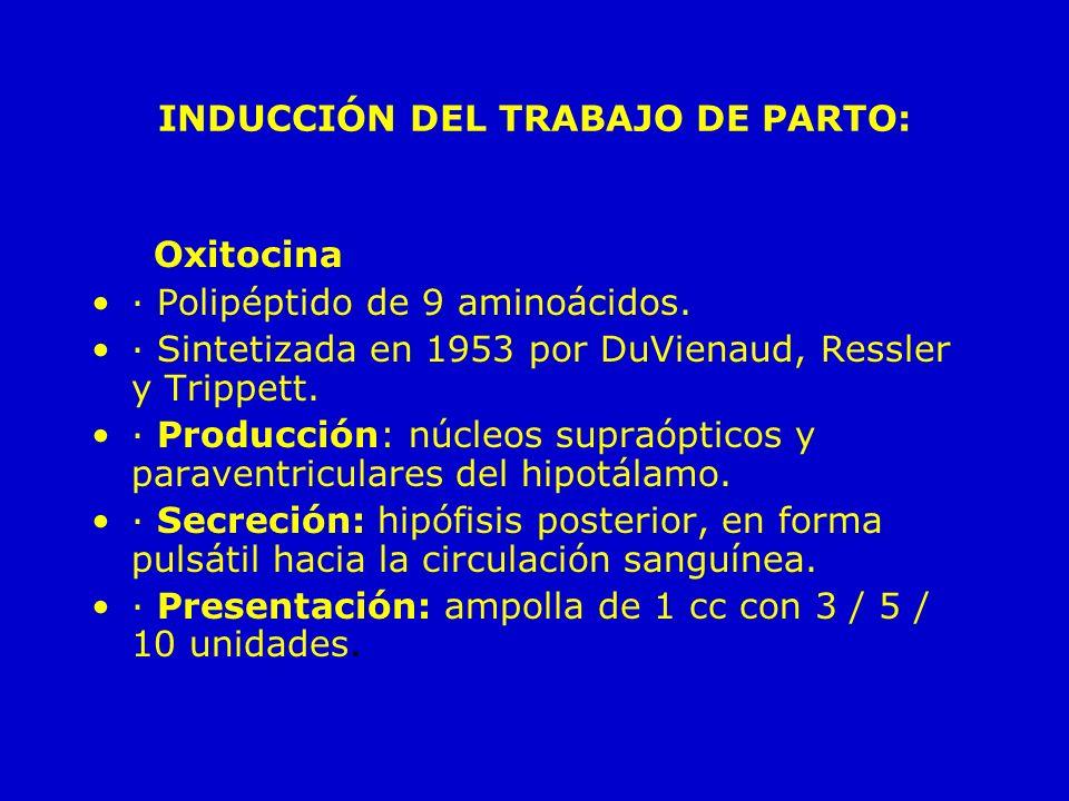 INDUCCIÓN DEL TRABAJO DE PARTO:
