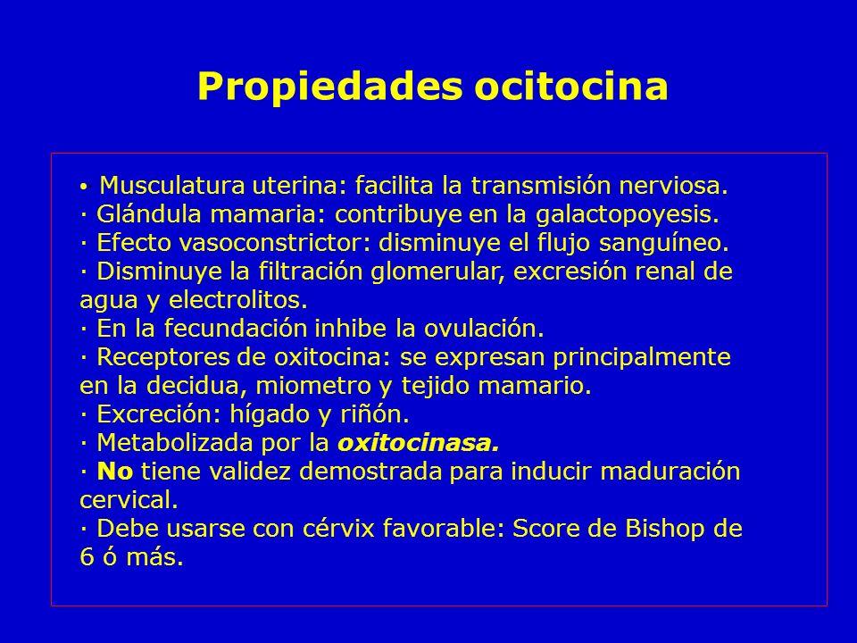 Propiedades ocitocina