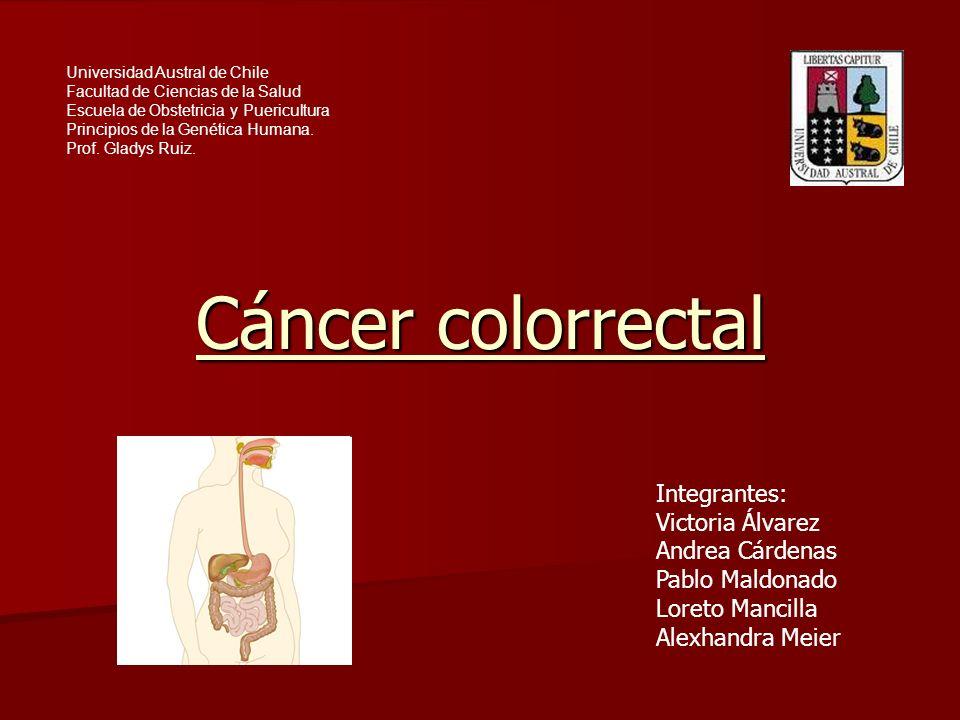 Cáncer colorrectal Integrantes: Victoria Álvarez Andrea Cárdenas