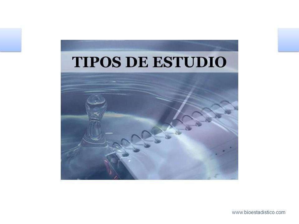 TIPOS DE ESTUDIO www.bioestadistico.com