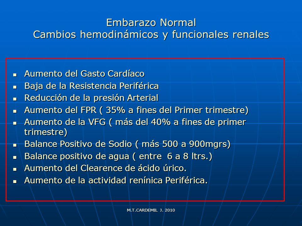 Embarazo Normal Cambios hemodinámicos y funcionales renales