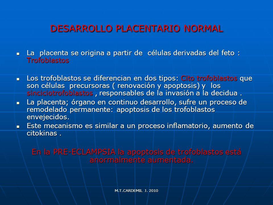 DESARROLLO PLACENTARIO NORMAL