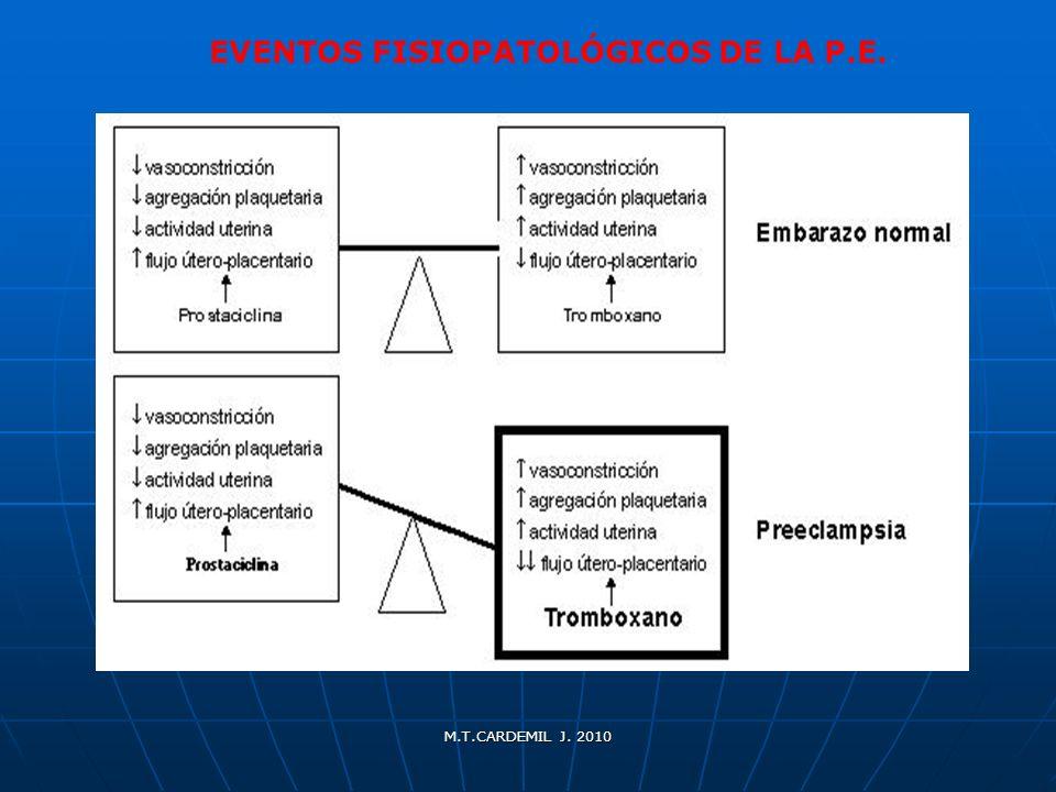 EVENTOS FISIOPATOLÓGICOS DE LA P.E.