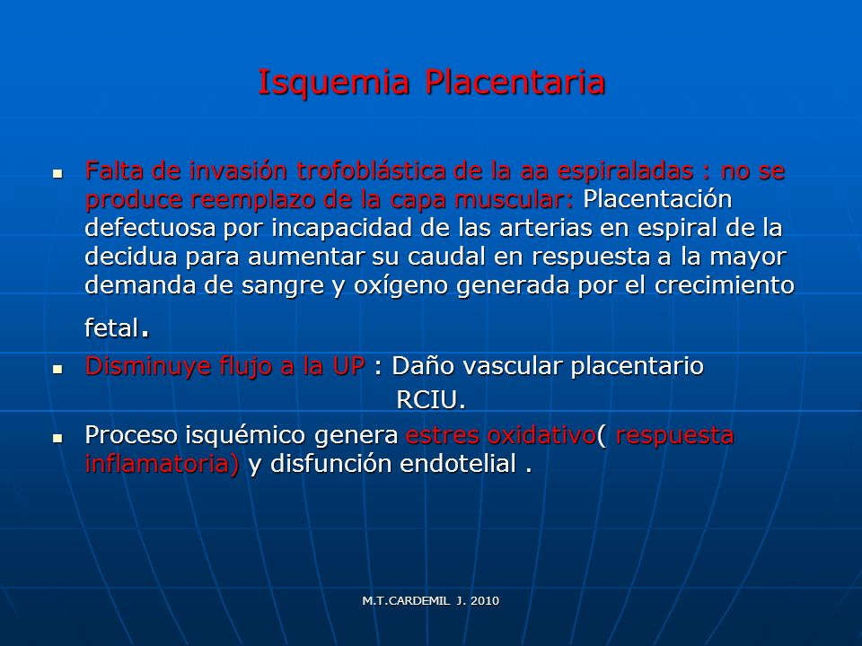 Isquemia Placentaria