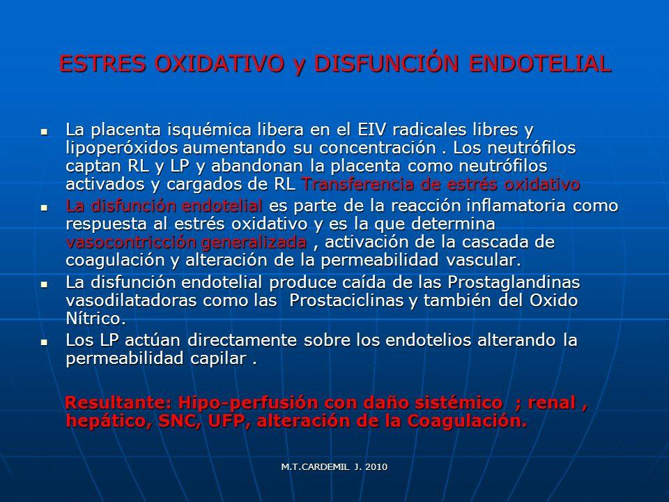 ESTRES OXIDATIVO y DISFUNCIÓN ENDOTELIAL