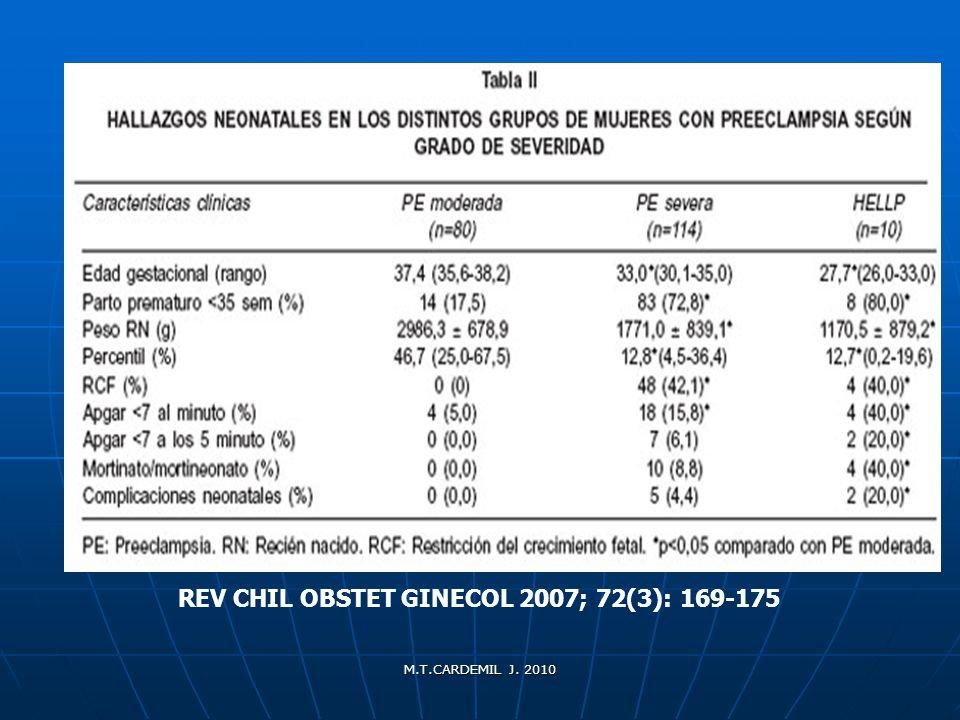 REV CHIL OBSTET GINECOL 2007; 72(3): 169-175