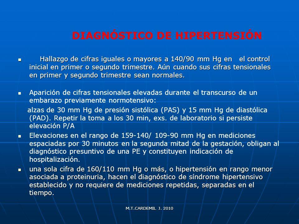 DIAGNÓSTICO DE HIPERTENSIÓN