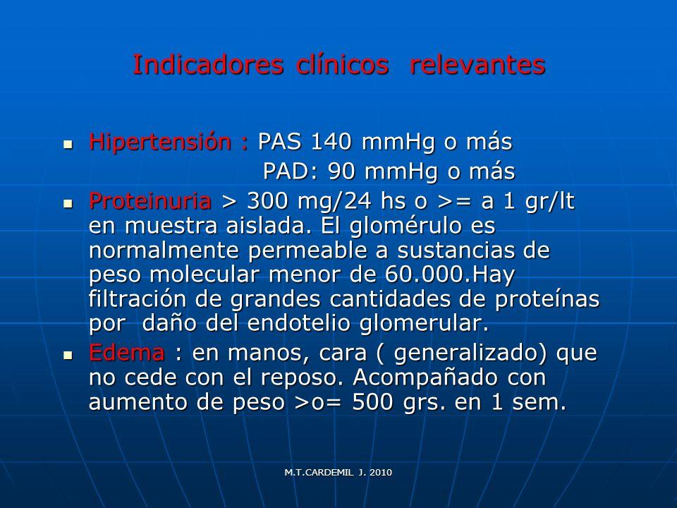 Indicadores clínicos relevantes