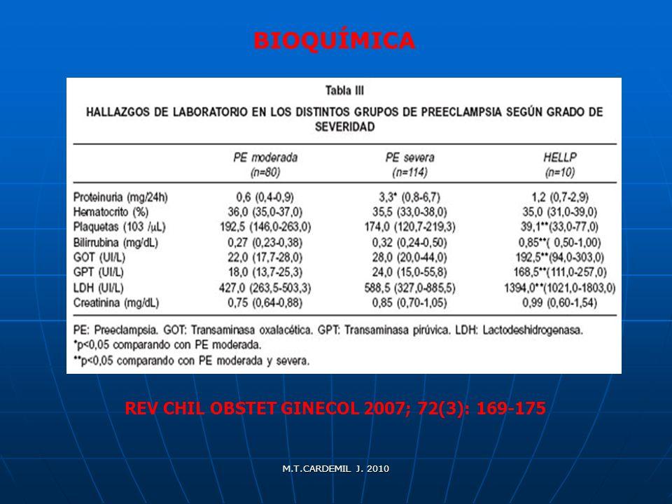 BIOQUÍMICA REV CHIL OBSTET GINECOL 2007; 72(3): 169-175