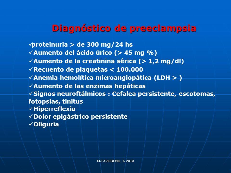 Diagnóstico de preeclampsia