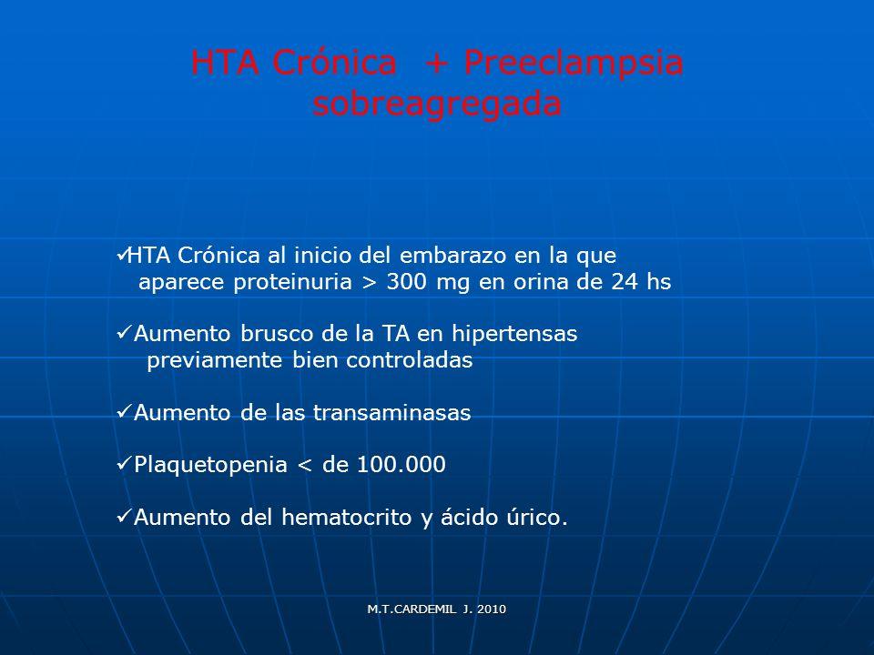 HTA Crónica + Preeclampsia sobreagregada