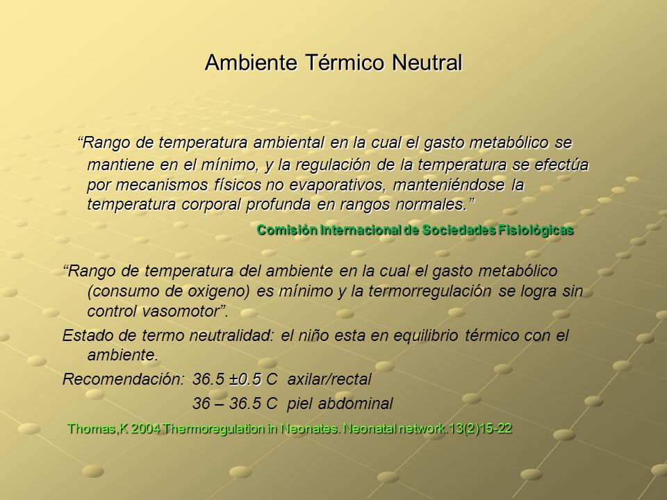 Ambiente Térmico Neutral