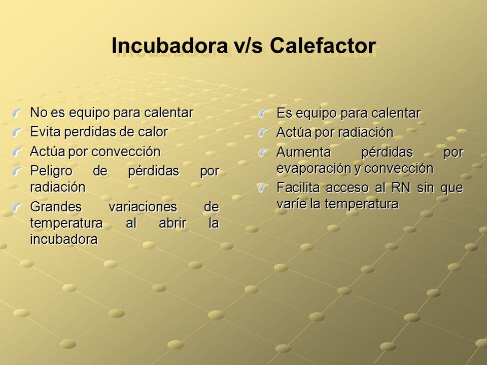 Incubadora v/s Calefactor