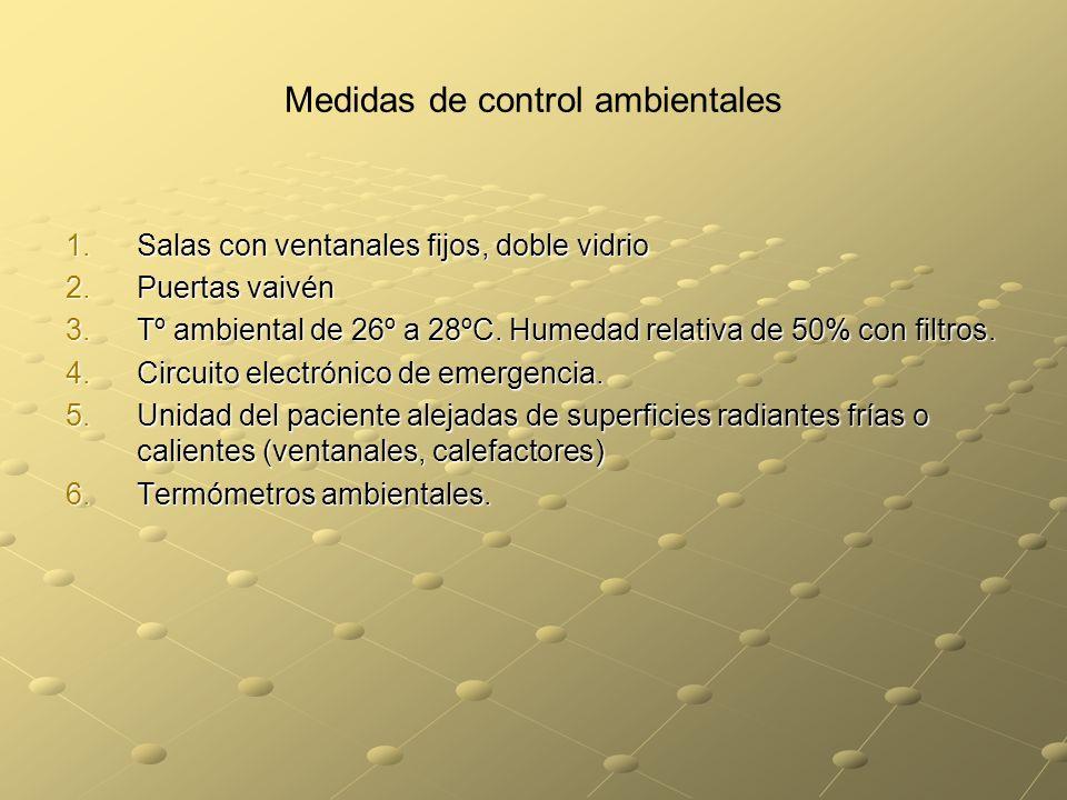 Medidas de control ambientales