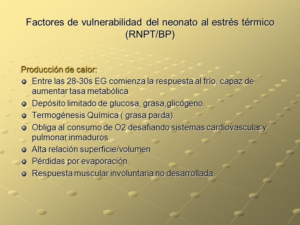 Factores de vulnerabilidad del neonato al estrés térmico (RNPT/BP)