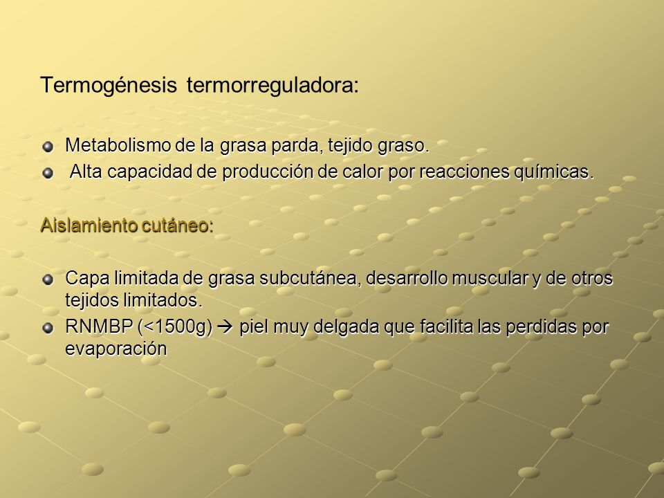 Termogénesis termorreguladora: