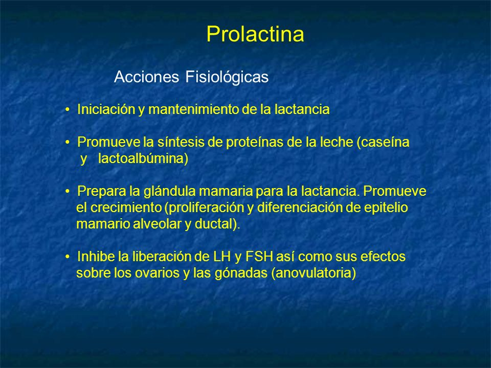 Prolactina Acciones Fisiológicas