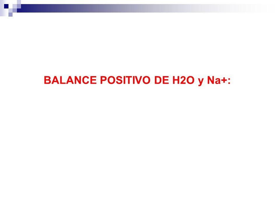 BALANCE POSITIVO DE H2O y Na+: