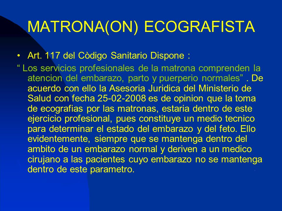 MATRONA(ON) ECOGRAFISTA