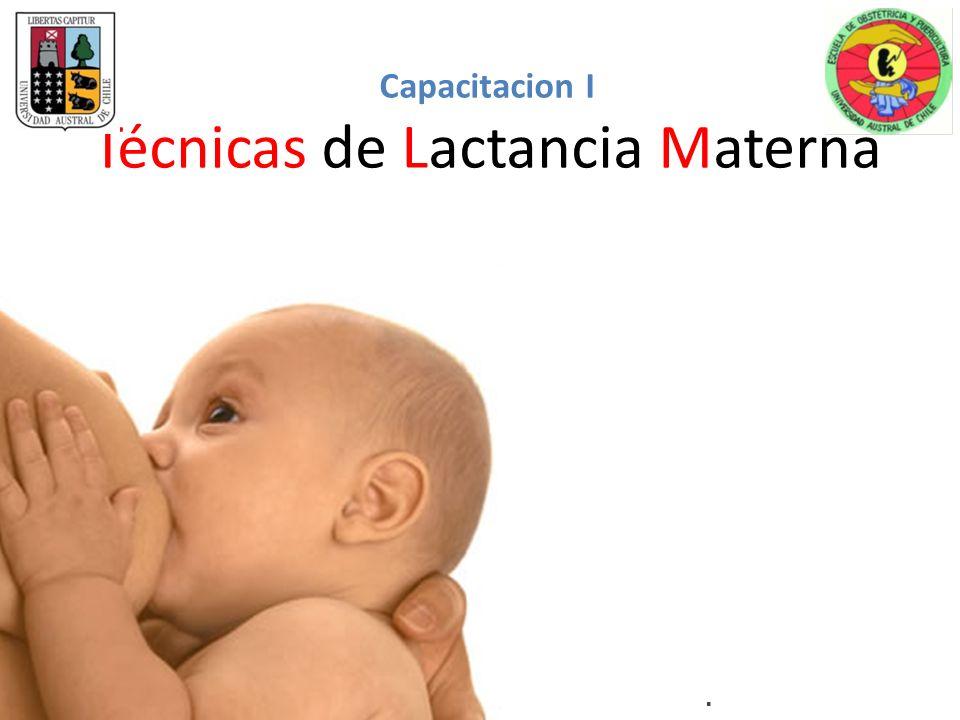 Capacitacion I Técnicas de Lactancia Materna