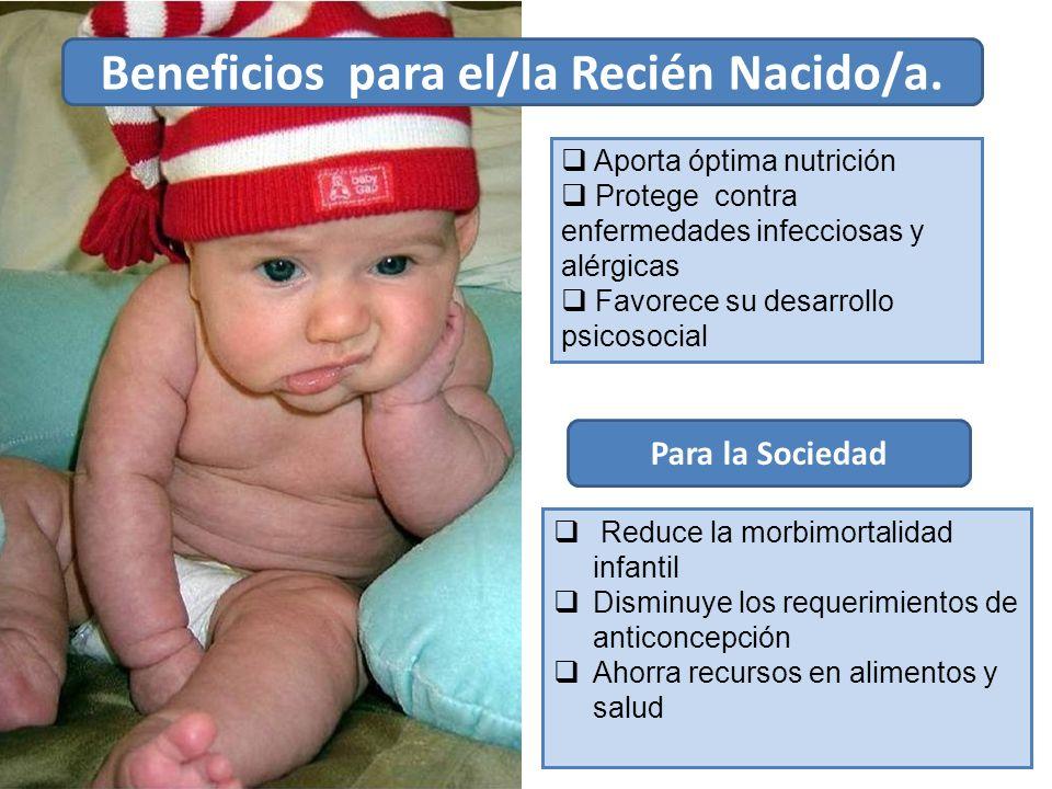 Beneficios para el/la Recién Nacido/a.