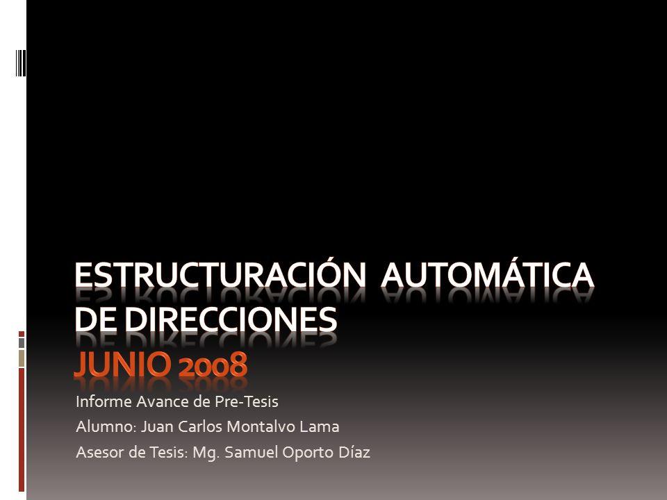 Estructuración automática de direcciones junio 2008