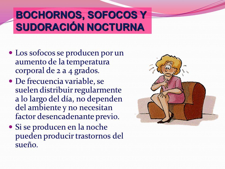 BOCHORNOS, SOFOCOS Y SUDORACIÓN NOCTURNA